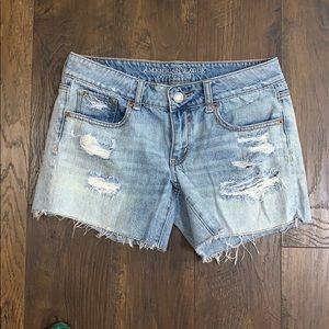 American Eagle distressed cut-off denim shorts